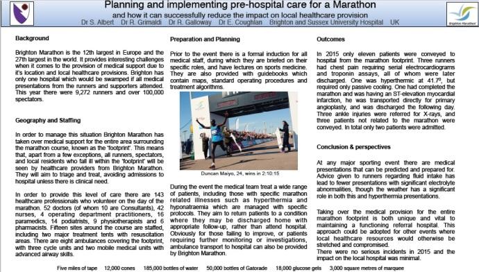 Marathon Medicine. S Albert. EuSEM 15