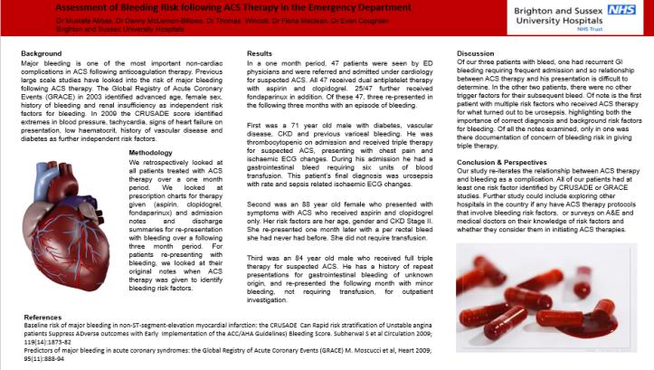 Bleed risk poster