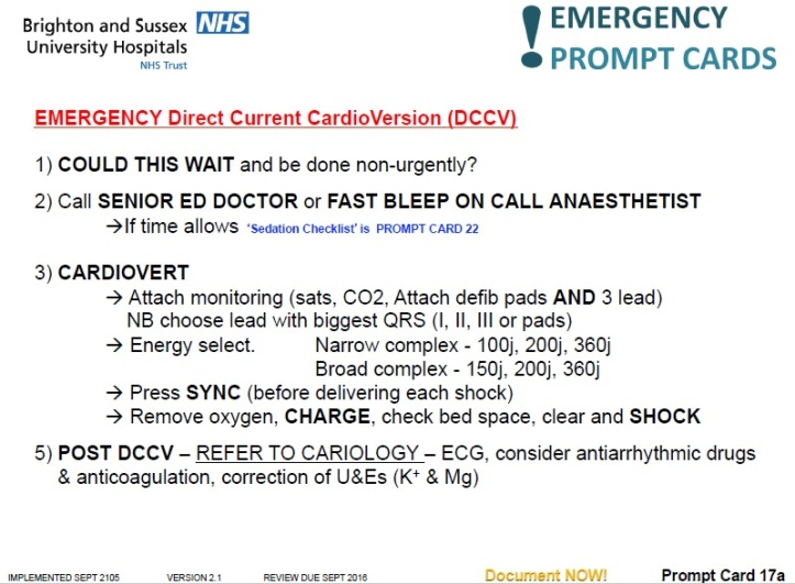 Emergency DCCV