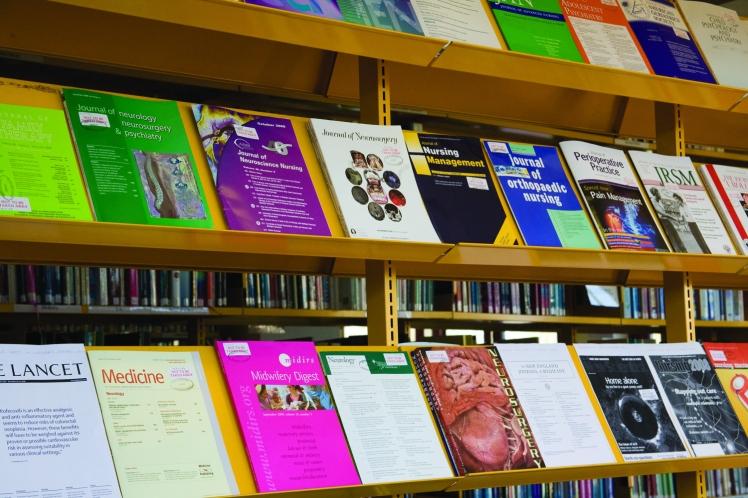 journals-on-shelf